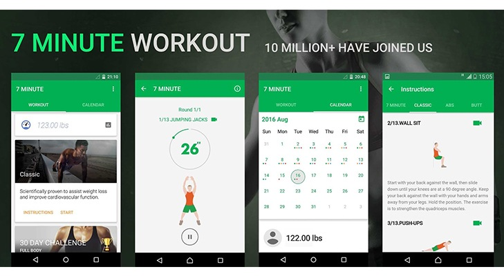 Fitness Apps 7 Minute Workout