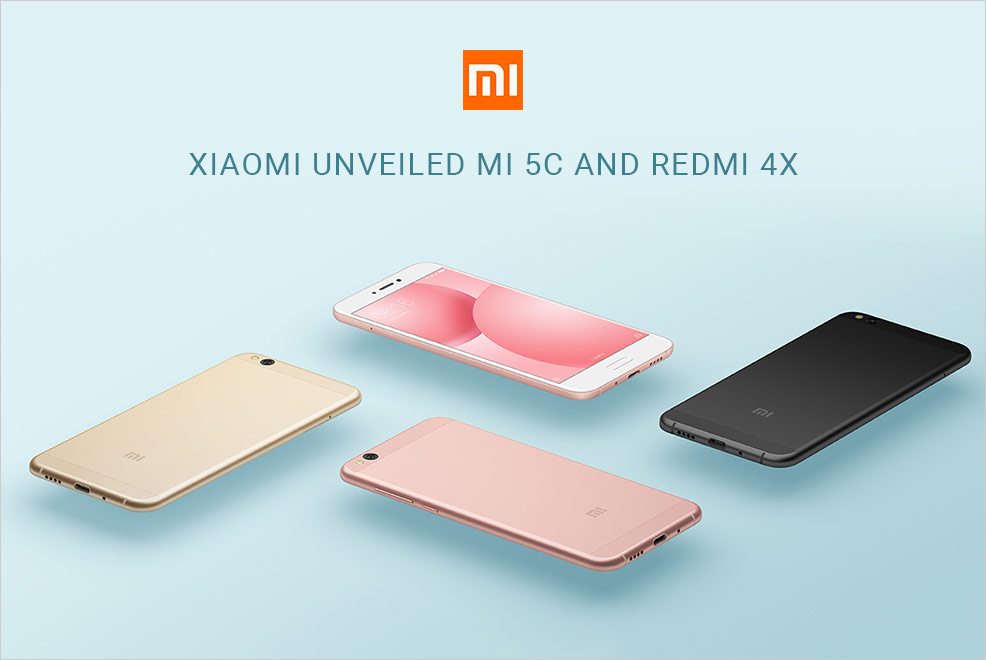 Xiaomi Mi 5C And Redmi 4X