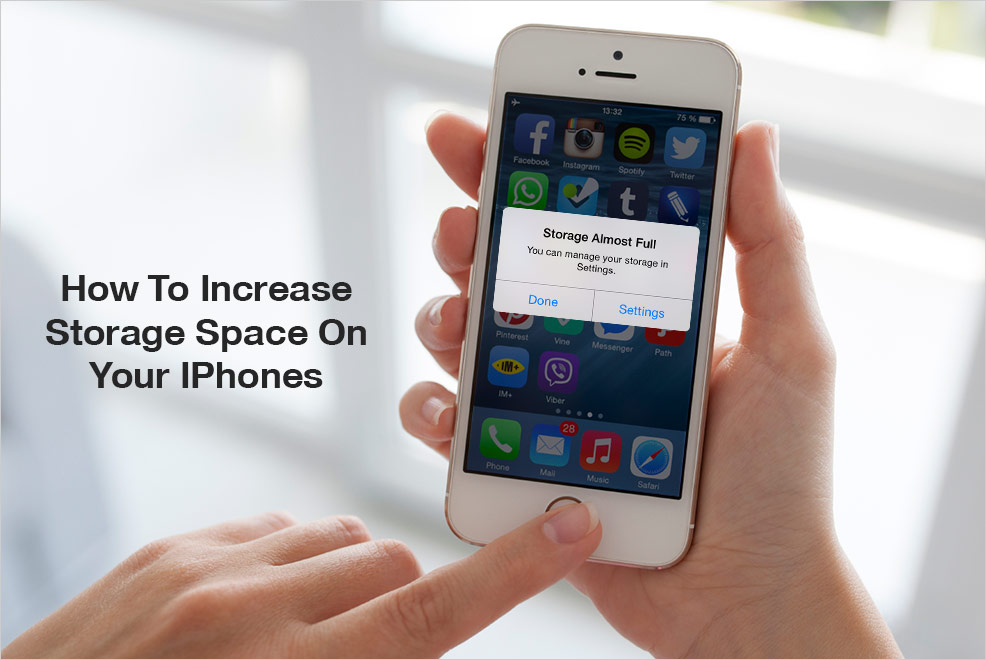 increase storage space on your iPhones
