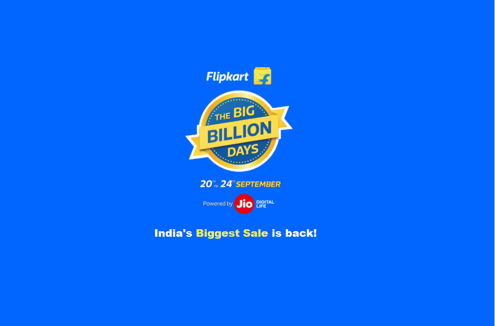 Flipkart's Big Billion Days To Kick In From September 20