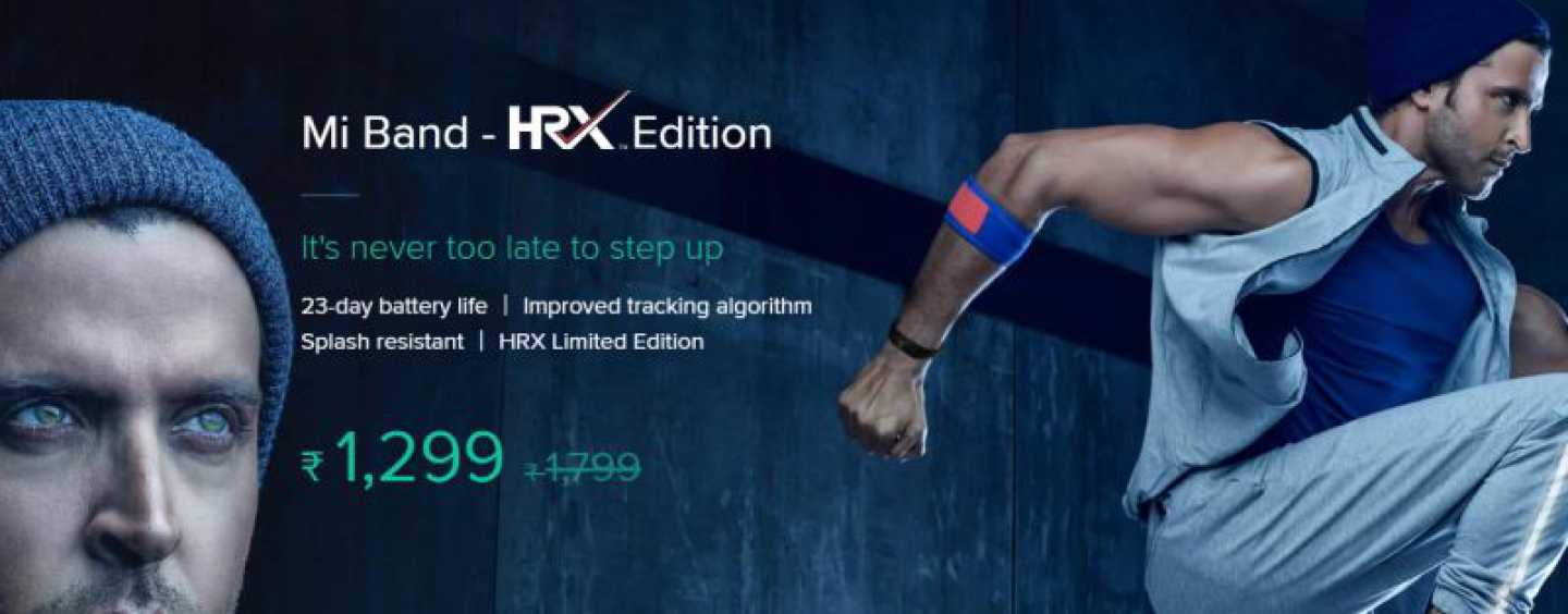 Xiaomi Partners With Hrithik Roshan To Launch A New Fitness Band