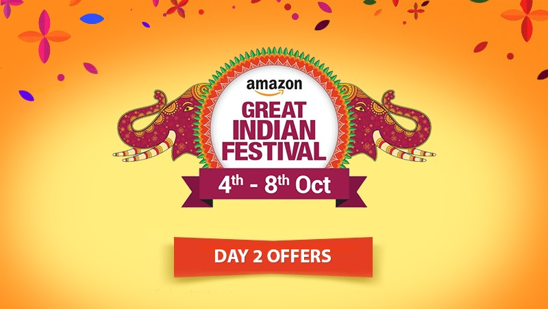 Amazon Great Indian Festival Sale (4th to 8th October): Day 2 of Volley of Deals and Offers