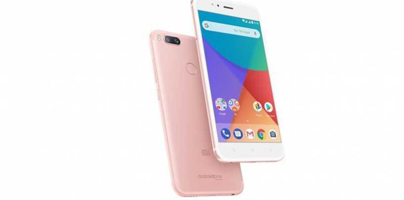 Xiaomi Mi A1 Rose Gold Version Breaks Cover In India