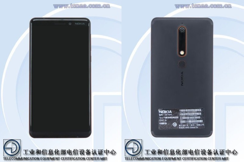 Nokia 6 2018 Reportedly passed through TENNA in China