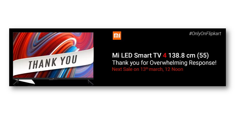 Xiaomi Mi TV 4 Sold Out in Seconds in Its 3rd Consecutive Flash Sale