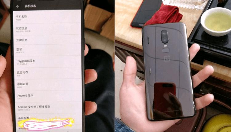 OnePlus 6 Live Image