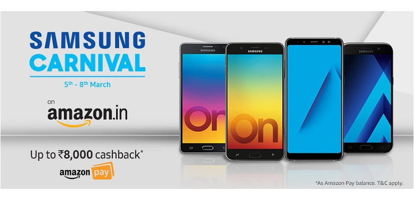 Samsung Carnival on Amazon from 5th March: Up to Rs.8000 Cashback