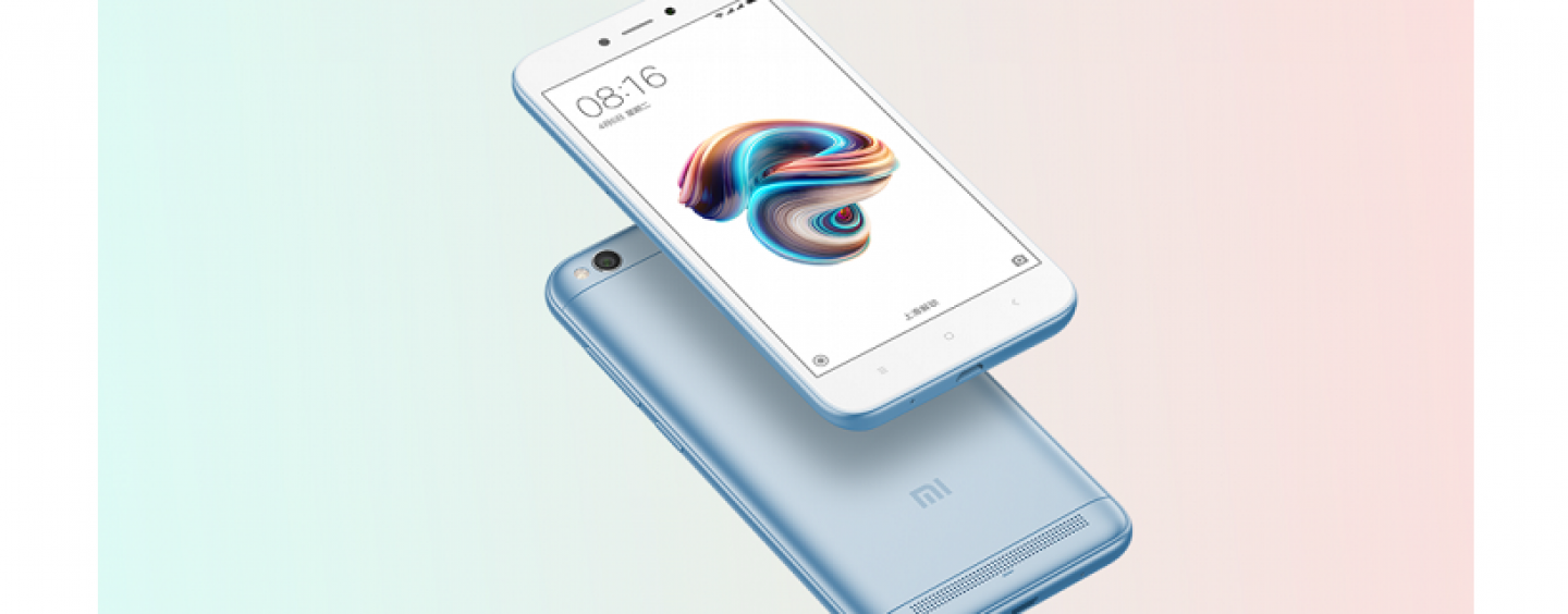 Xiaomi Redmi 5A Launched in Lake Blue Colour to Celebrate 5 million Units Sold