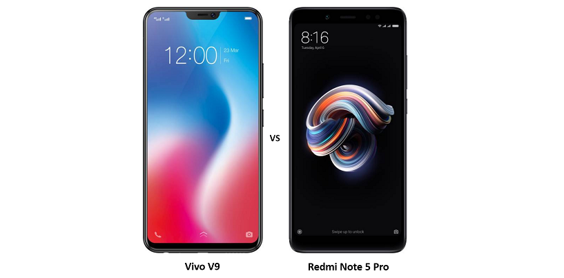 Compare Vivo V9 vs Redmi Note 5 Pro: Pricing, Design, Camera and Specifications