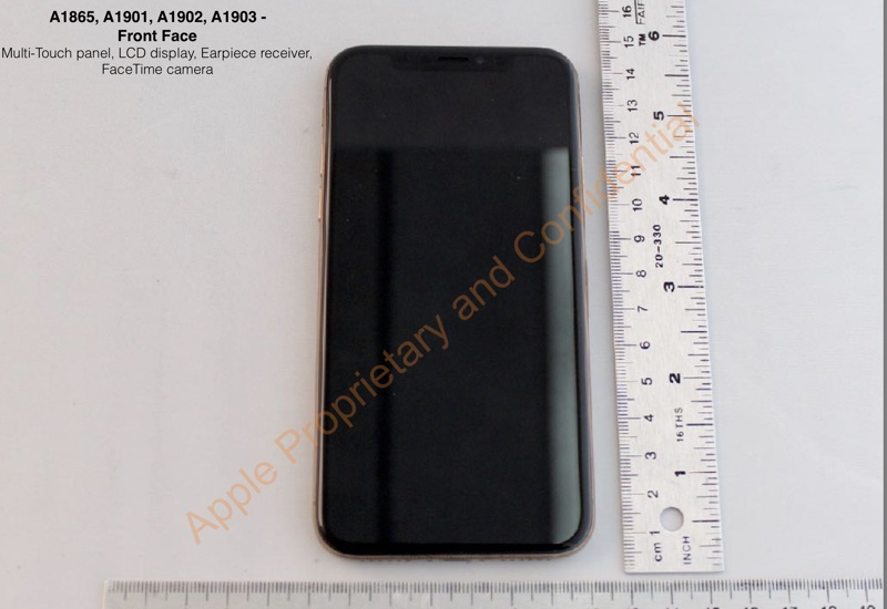 iPhone X Gold (FCC)