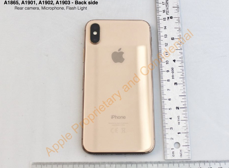 iPhone X Gold (FCC)