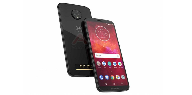 Moto Z3 Play Leaked Press Render Shows Dual Rear Camera and Glass Back