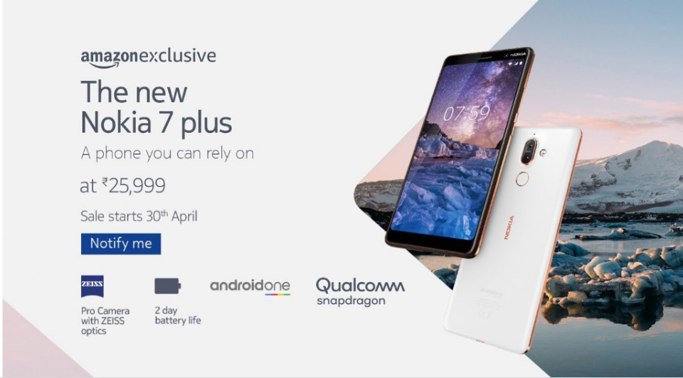 Nokia 7 Plus, Nokia 8 Sirocco up for Pre-Orders in India