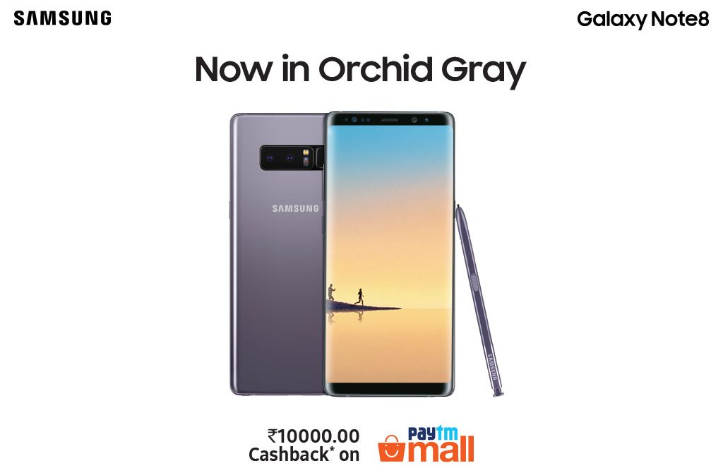 Samsung Galaxy Note8 Orchid Gray Colour Variant Launched in India