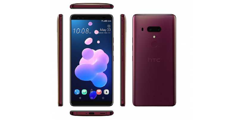 HTC U12 Plus with Edge Sensors and Dual Selfie Sensors Launched