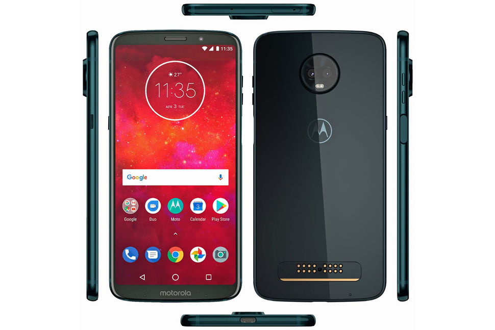 Motorola Z3 Play in Deep Indigo Color Leaked: Features Side-mounted Fingerprint Scanner