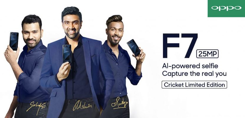 Oppo F7 Diamond Black Cricket Limited Edition Launched in India: Priced at Rs. 21,990