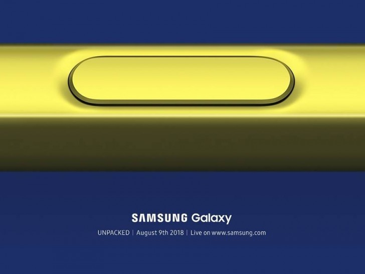Samsung Galaxy Note 9 Key Specifications Revealed Ahead of The Launch on August 9