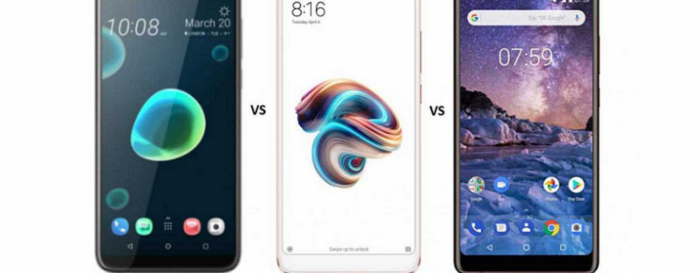HTC Desire 12 Plus vs Redmi Note 5 Pro vs Nokia 7 Plus: Pricing and Specifications Compared