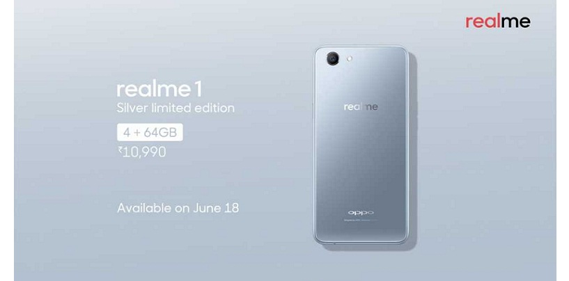 OPPO Realme 1 Gets Limited Edition Moonlight Silver Color Variant