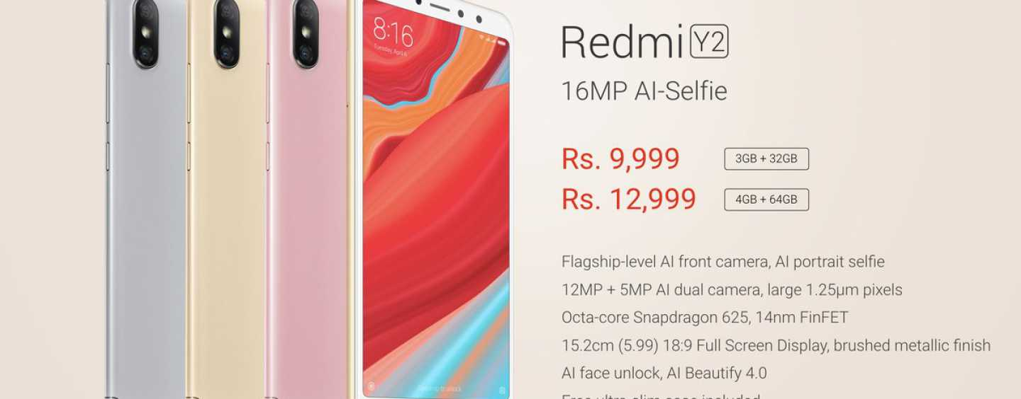 Xiaomi Redmi Y2 Launched in India with Starting Price of Rs. 9,999
