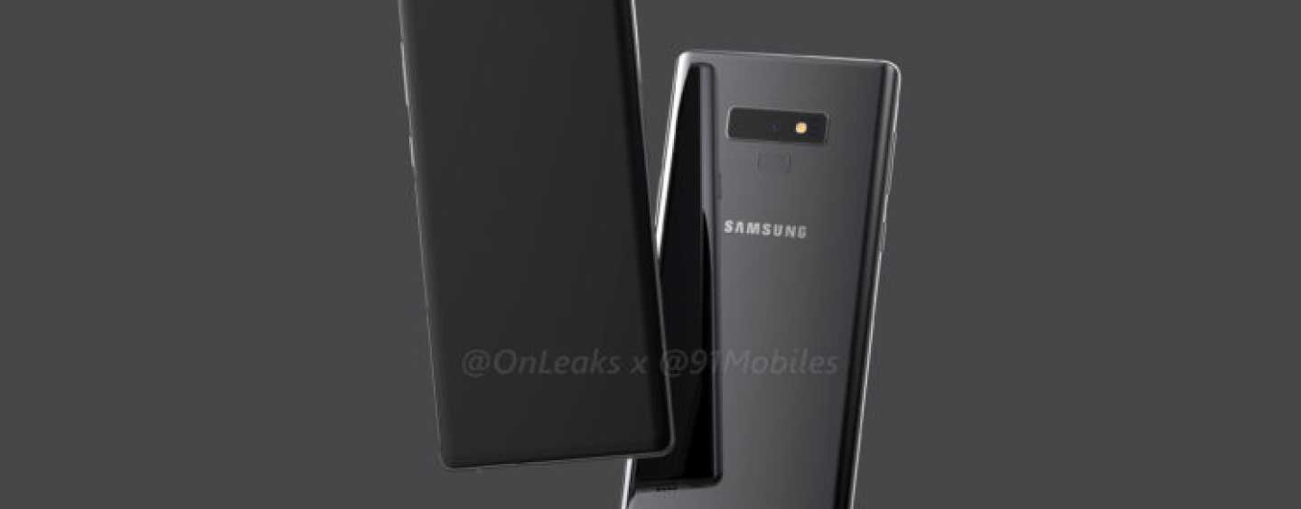 Samsung Galaxy Note 9 Leaked in 3D Renders by Popular Tipster Steve Hemmerstoffer