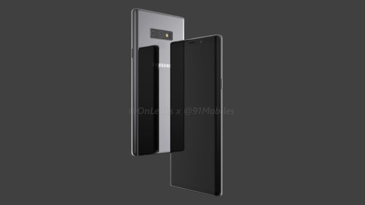 Samsung Galaxy Note 9 Leaked 3D Render by OnLeaks