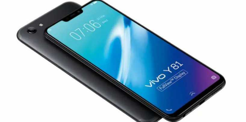 Vivo Y81 with 6.22-inch Display and 3GB RAM Launched in Taiwan