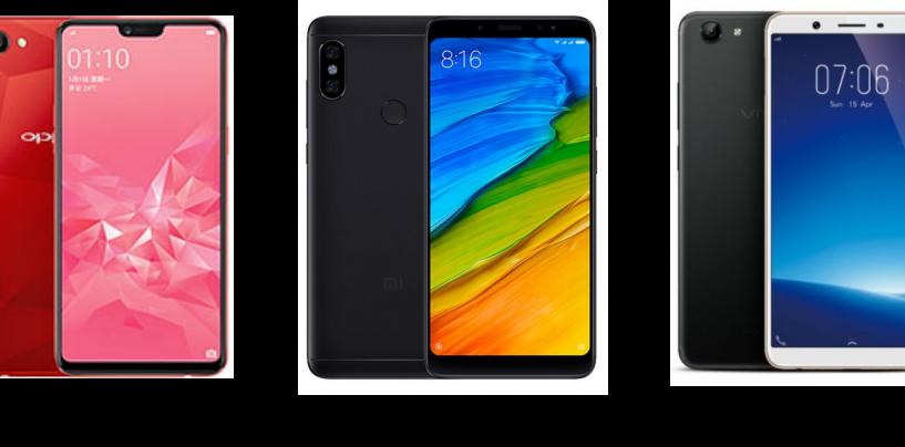 Oppo A3s vs Xiaomi Redmi Note 5 vs Vivo Y71i: Price, Software and Hardware Configurations Compared