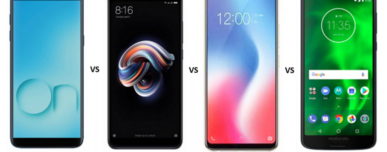 Samsung Galaxy On6 vs Vivo Y83 vs Redmi Note 5 Pro vs Moto G6: The War of Budget Smartphones