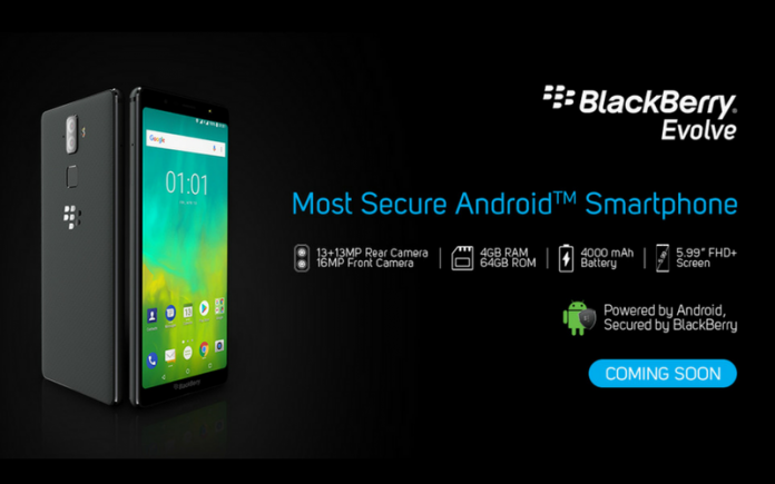 BlackBerry Evolve and Evolve X with Android 8.1 OS and Face Unlock Launched in India