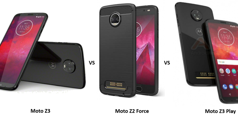 Moto Z3 vs Moto Z2 Force vs Moto Z3 Play: Price, Features and Specifications Compared