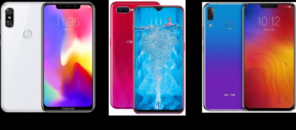 Motorola P30 vs Oppo F9 vs Lenovo Z5
