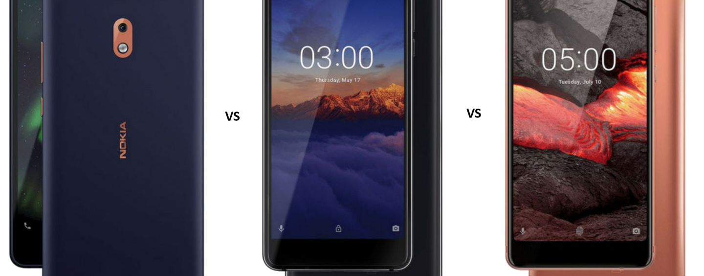 Nokia 2.1 vs Nokia 3.1 vs Nokia 5.1: Price, Features and Specifications Compared