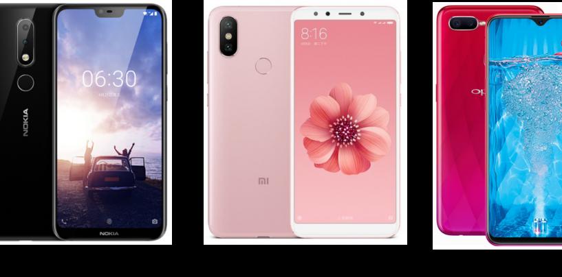 Nokia 6.1 Plus vs Oppo F9 vs Xiaomi Mi A2: Price in India, Software and Hardware Configurations Compared