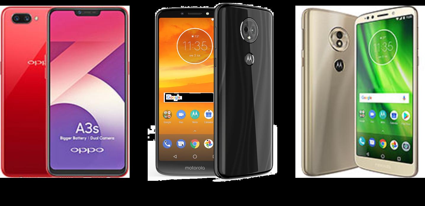 Oppo A3s vs Moto E5 Plus vs Moto G6 Play: Price, Hardware and Software Compared