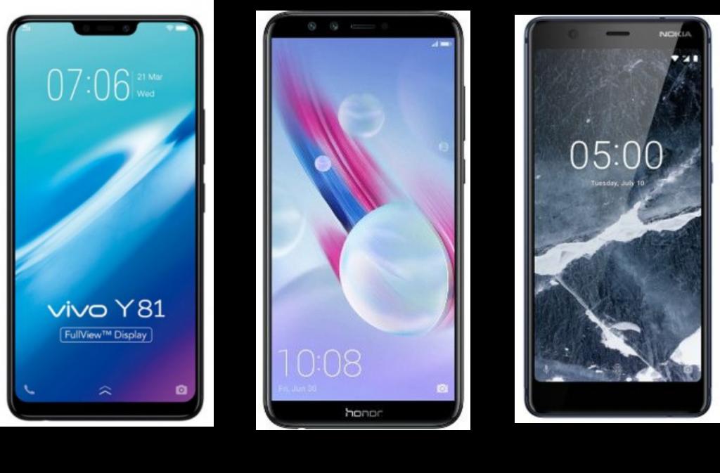 Vivo Y81 vs Honor 9 Lite vs Nokia 5.1: Price, Software and Hardware Configuration Compared
