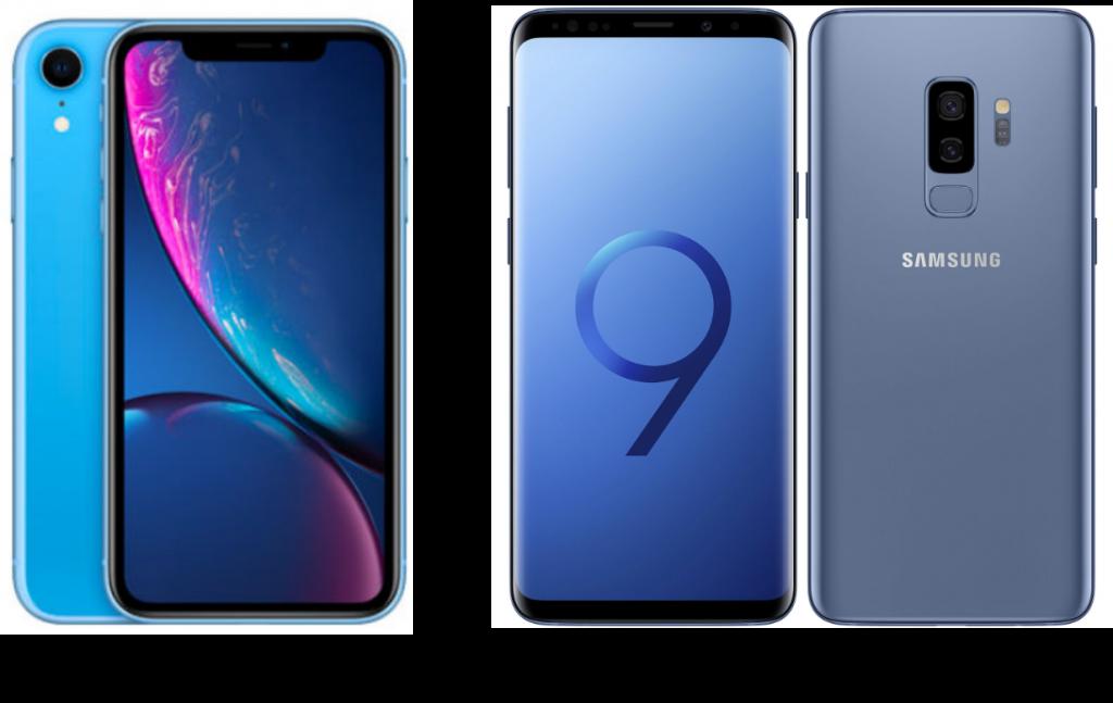 Apple iPhone XR vs Samsung Galaxy S9 Plus