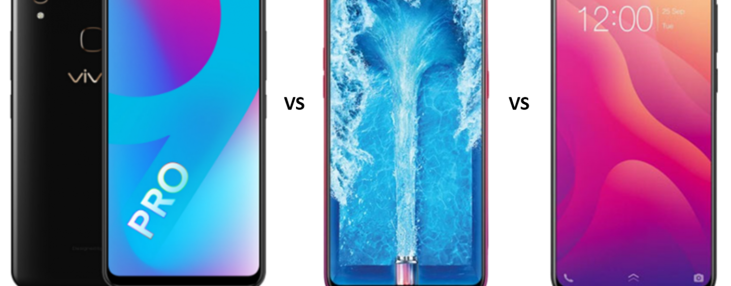 Vivo V9 Pro vs OPPO F9 vs Vivo V11: Features and Specifications Compared in Detail