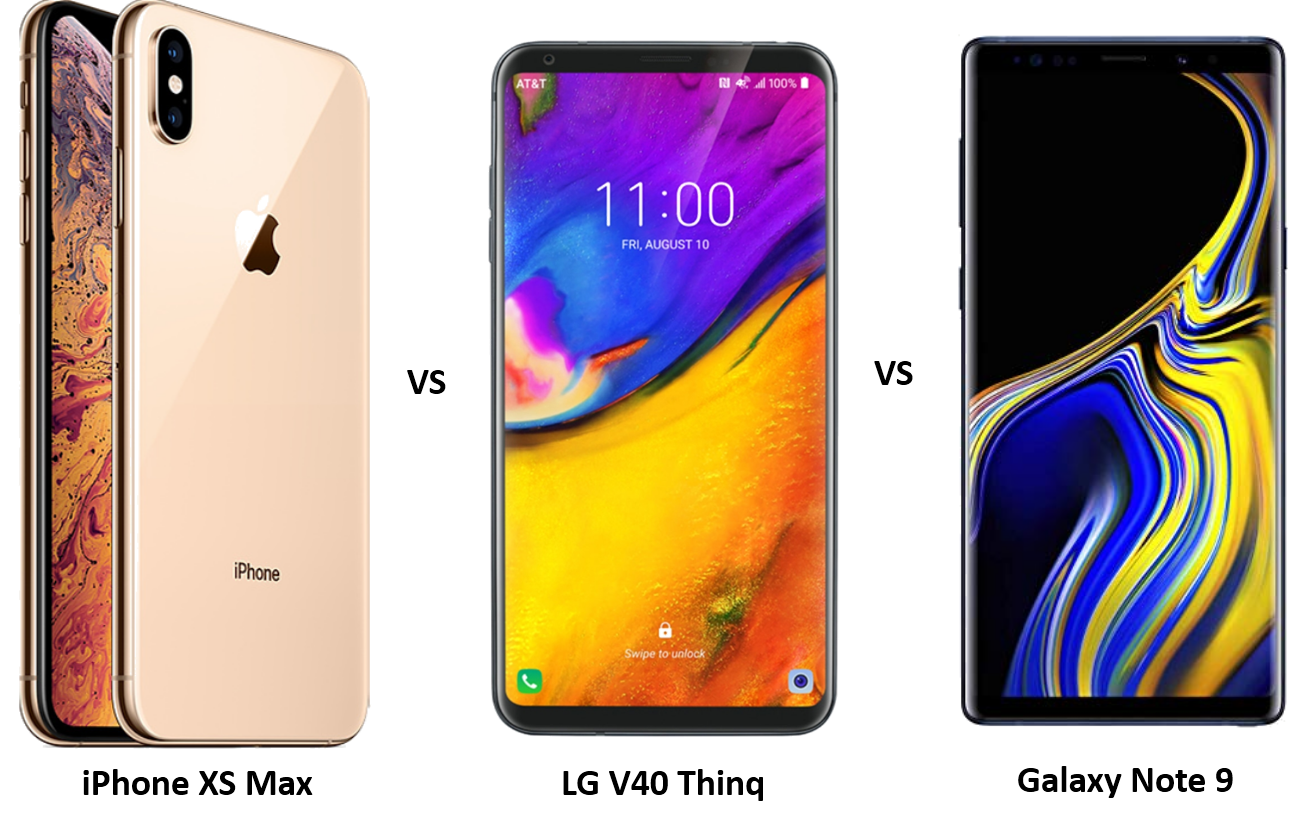 Apple iPhone XS Max vs LG V40 Thinq vs Samsung Galaxy Note 9: The Clash of Titans
