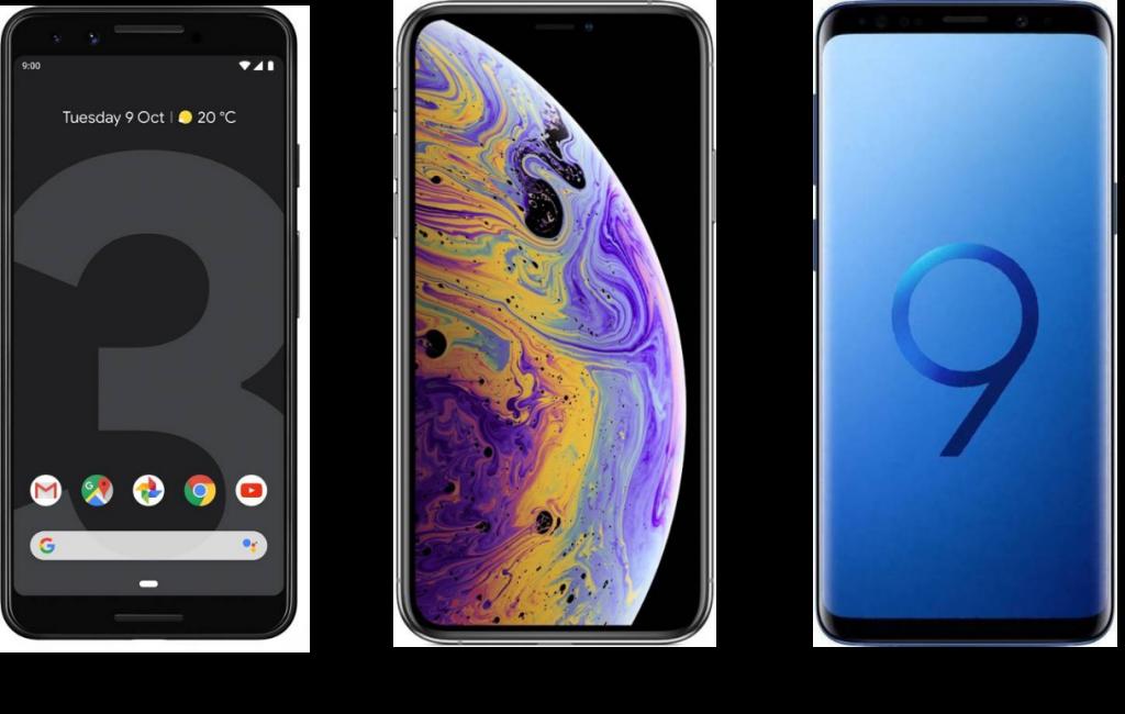 Google Pixel 3 vs iPhone XS vs Samsung Galaxy S9