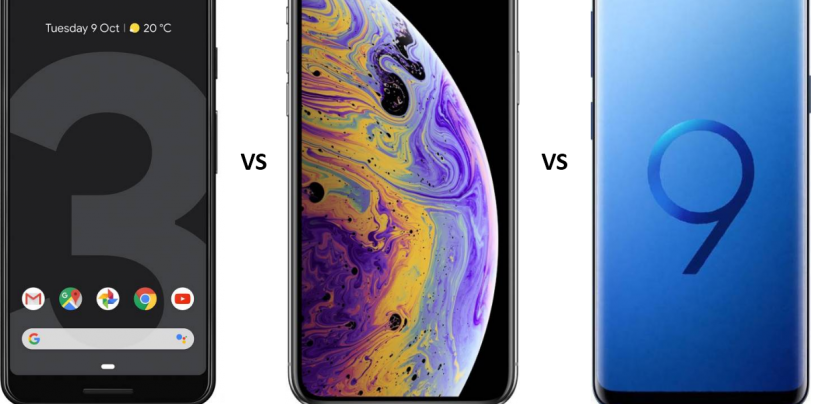 Google Pixel 3 vs iPhone XS vs Samsung Galaxy S9: The Fierce Battle of Flagships