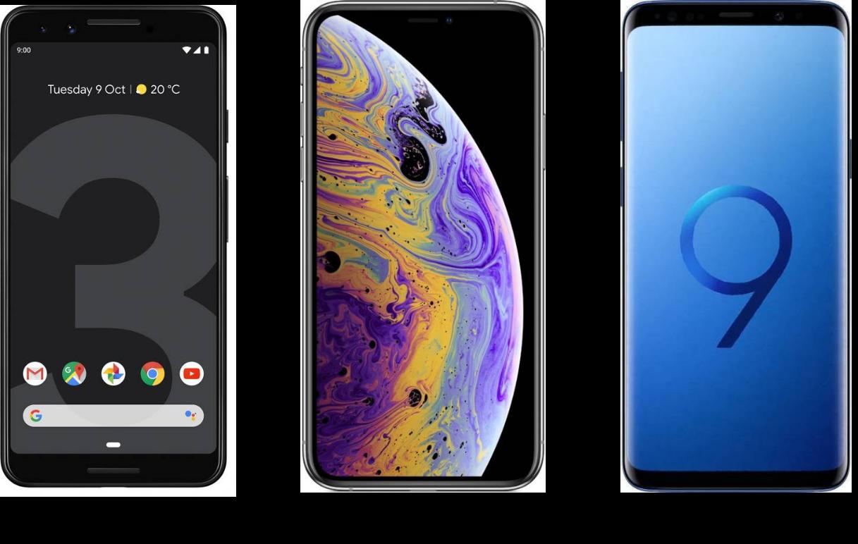 Google Pixel 3 vs iPhone XS vs Samsung Galaxy S9: The Fierce Battle of Flagships