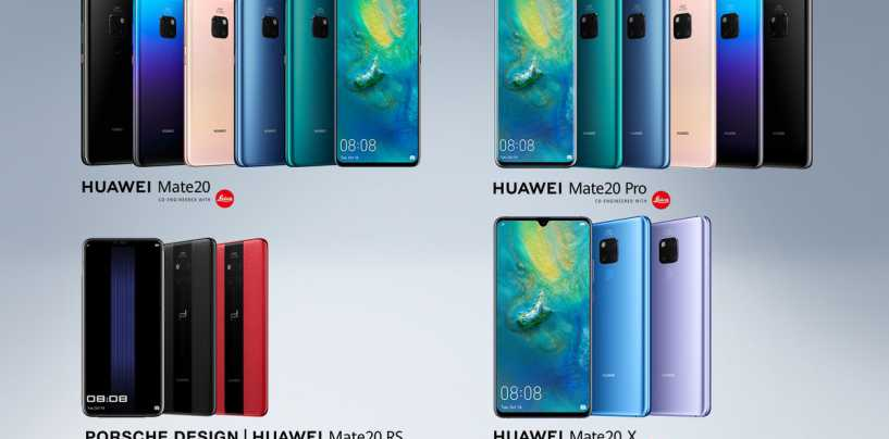 Huawei Mate 20, Mate 20 Pro, Mate 20 X and Mate 20 RS Porsche Design with Triple Rear Camera Setup Launched