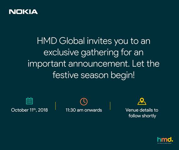 HMD Global Rolls Out Media Invites for October 11 Event in India: Nokia 7.1 and 7.1 Plus Expected