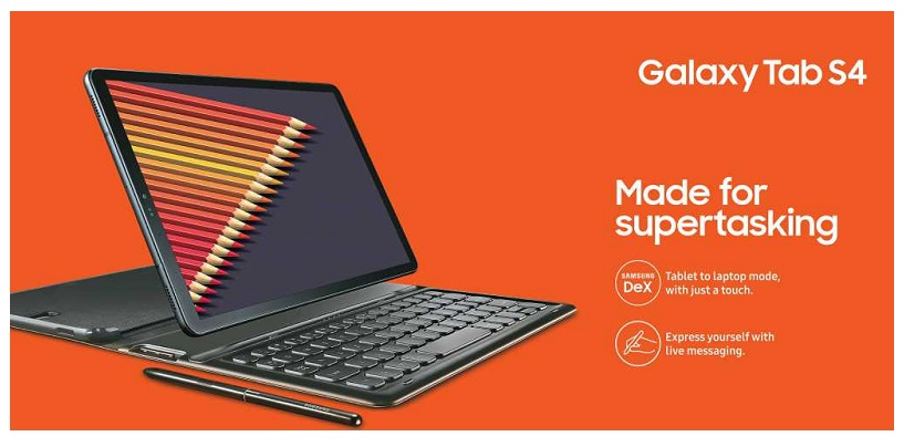 Samsung Galaxy Tab S4 Launched For Rs 57,900 In India