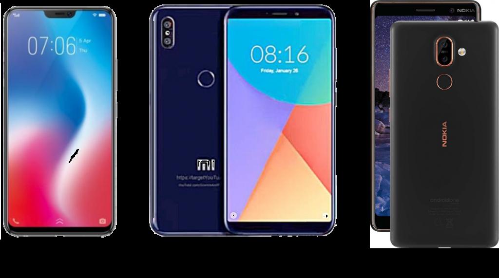 Vivo V9 Pro vs Xiaomi Mi A2 vs Nokia 7 Plus