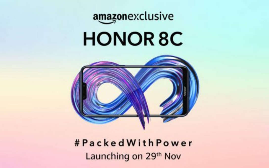 Honor 8C with Snapdragon 632 to Launch in India on November 29 as Amazon Exclusive