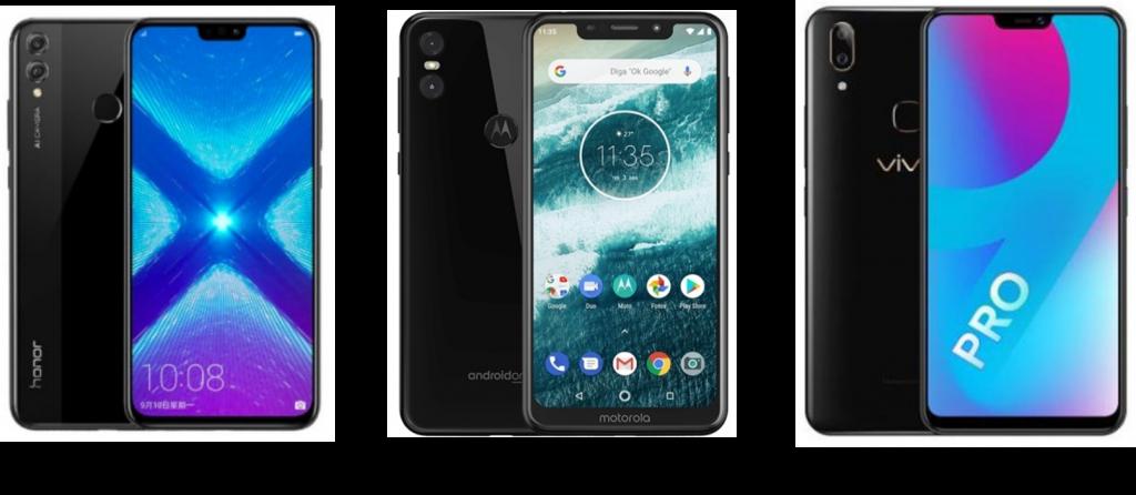 Honor 8X vs Motorola One Power vs Vivo V9 Pro