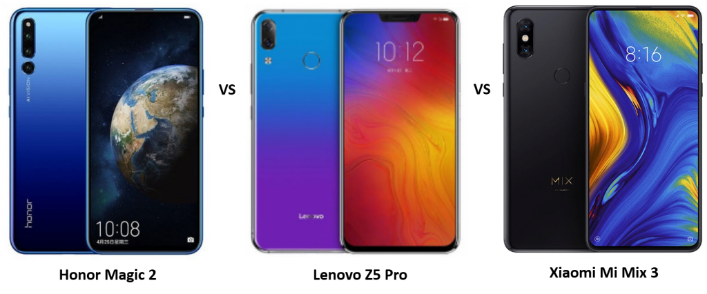 Honor Magic 2 vs Lenovo Z5 Pro vs Xiaomi Mi Mix 3